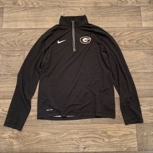 Nike UGA Georgia Bulldogs quarter-zip jacket